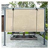 XJJUN Außenrollo, Atmungsaktives Gewebe Reißfestigkeit 90% UV-Beständigkeit Sichtschutz Sonnensegel, Für Gartenterrasse (Color : Beige, Size : 1.5x3m)