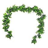 XMEIFEI PARTS Vides Artificiales 6.2 pies Fake Eucalyptus Hojas Guirnalda Faux Colgando Vine Green Herdery Betwood Ramitas for Exteriores al Aire Libre Nosotros by (Color : Green)