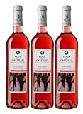 Vega del Castillo Rosado de Lágrima - Vino Rosado - DO Navarra - Pack de 3 botellas 750ml - Total 2250ml