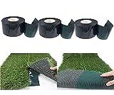 Cinta autoadhesiva para césped de 3 rollos, 50 mm x 5 m, cinta autoadhesiva de doble cara, cinta de unión de césped artificial para fijar alfombras de césped en un suelo plano