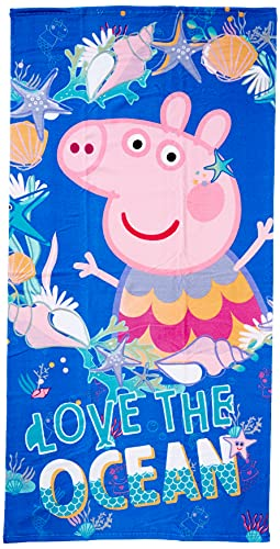 Textil y complementos peppa pig 8427934364732 Toalla Microfibra Peppa Pig, Multicolor, 70.0 X 140.0 X Cm Unisex niños