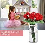 YUHT Dollhouse D & Eacute; Cor, 1:12 Doll House Mini Bonsai Model Play Toys Jardín Planta Decoración Accesorios para niños Toy Doll House DIY (Rosa)