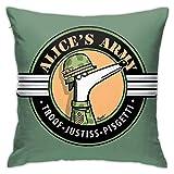 Alice'S Army Profits to Greyhound - Funda de almohada decorativa...