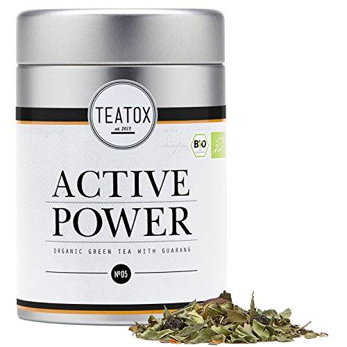 TEATOX Active Power, tè verde organico con guarana (Barattolo)