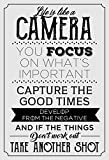 Life is like a Camera Motivierendes Zitat Poster 33x