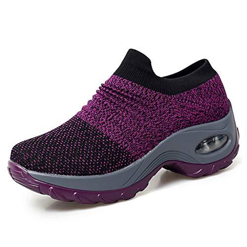 Damen Sportschuhe Laufschuhe Trekking rutschfest Fitness Komfort Fashion Schuhe Lila Größe 39