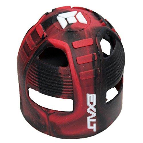 Exalt Tank Grips (click-a-Color) (Red/Black Swirl)