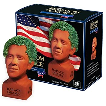 Chia Barack Obama Decorative Pottery Planter Easy to Do and Fun to Grow Novelty Gift Perfect for Any Occasion