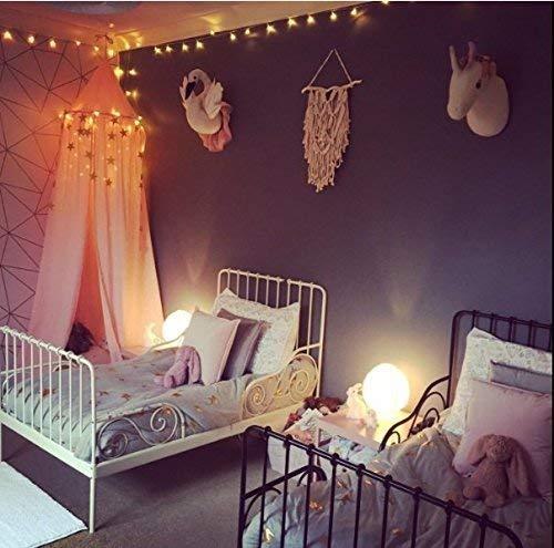 Ciel de lit pour enfants, filet anti-moustique en coton à suspendre, tente de...