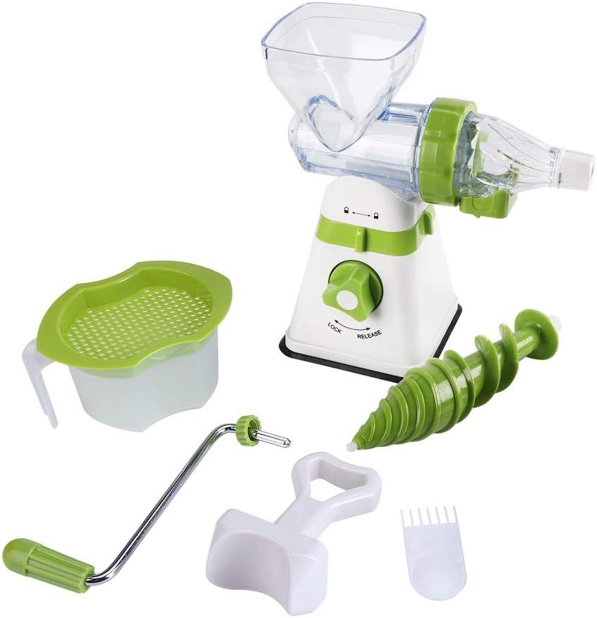 Oumefar Máquina exprimidora, exprimidor Manual de plástico con manivela, exprimidor Manual multifunción, ecológico Cocina casera