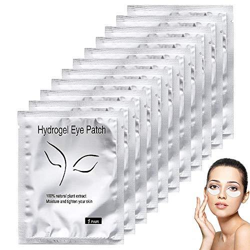 JPYH 50 Paire Patch Extension de Cils, Patchs Gel yeux Patch,Cils Non Pelucheux Patch pour Extension...