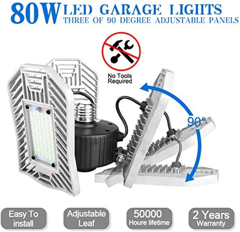80W Garage Light, E26 Garage Lighting Led Garage Lights 8000lm, Barn Light Parking Lot Lights, E26 Garage Light,led Garage Ceiling Lights for Garage, Warehouse, Workshop, Basement