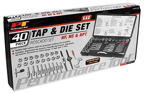 Performance Tool W4001DB 40-Piece SAE Tap & Die Set