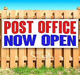 Post Office Now Open 13 oz Heavy Duty Vinyl Banner Sign with Metal Grommets, New, Store, Advertising, Flag, (Many Sizes Available)