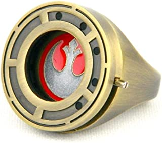 Star Wars Rose Tico's Resistance Ring with Shutter Prop Replica - Size 7 - The Last Jedi Collectible Accessory and Jewelry - Unique Gift for Halloween Costume, Cosplay, Birthdays