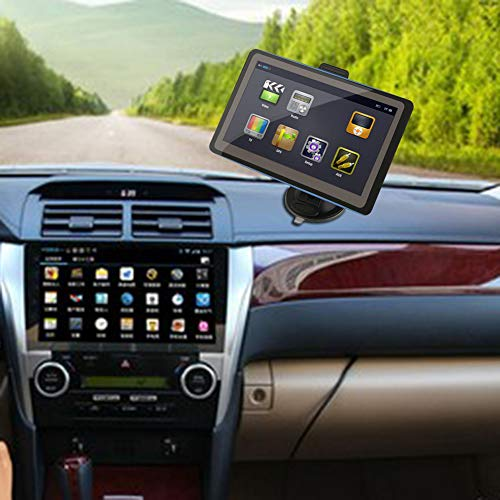 YSHtanj GPS & Zubehör GPS-Tracker 17,8 cm (7 Zoll) Display Auto Fahrzeug Bluetooth GPS Navigation NAV 8 GB mit Sonnenschutz