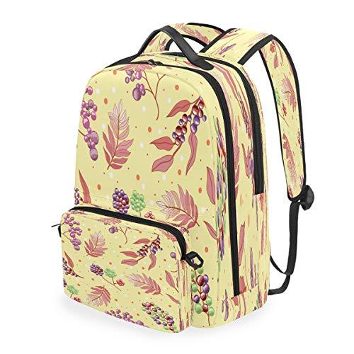 Kunstobst Studentenrucksack Kinderrucksack Büchertasche Schülerrucksack mit Umhängetasche für die Reise Mädchen Jungs