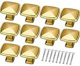 winfred 10 pezzi pomelli per mobili, manopole di mobili, pomelli in metallo per cassetti e armadi, con viti (colore oro opaco)
