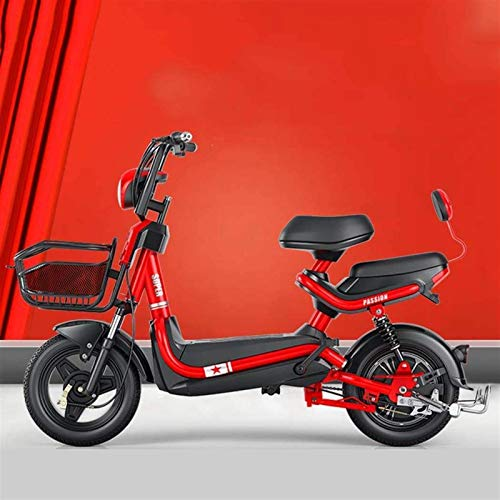 Bicicletas Eléctricas, Adultos Mejora el Scooter eléctrico, 48V 350W, Pantalla de la cantidad eléctrica/Modo de Ajuste de 1-3 Engranajes/Alarma antirrobo/Posicionamiento GPS, MILLAJE Continuo: 6