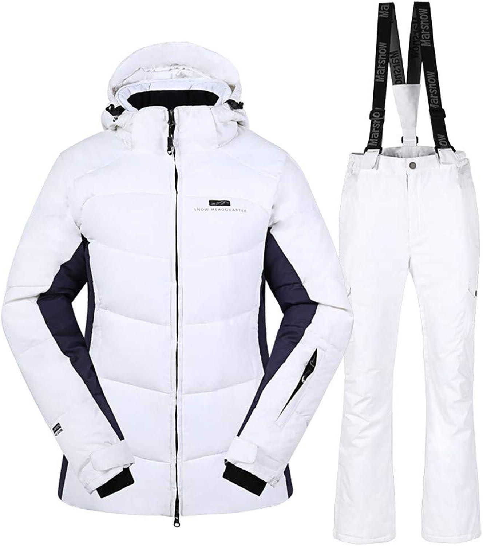 Women's Ski Suit Veneer Hiking Camping Windproof Ski Suit Warm Waterproof Cotton Outdoor