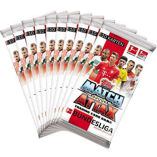 CAGO Topps Match Attax 2019/20 - 10 Booster - Deutsch