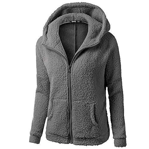 Hoodies for Women, Womens Fleece Hooded Sweatshirts Stars Pockets Oversized Fuzzy Hoodie Pullover Sweaters Fluffy Coats