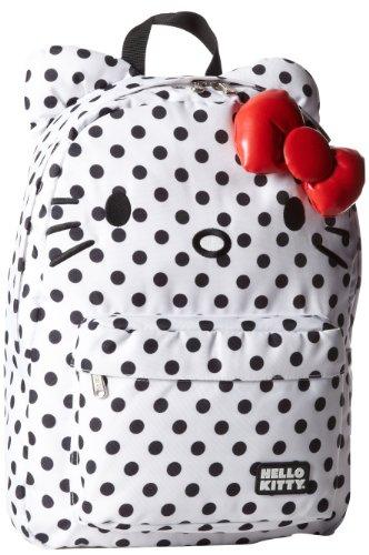Hello Kitty Polka Dot SANBK0092 Backpack,Black/White,One Size