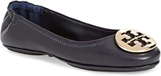 Tory Burch Minnie Travel Ballet Flat Shoes - Perfect Navy