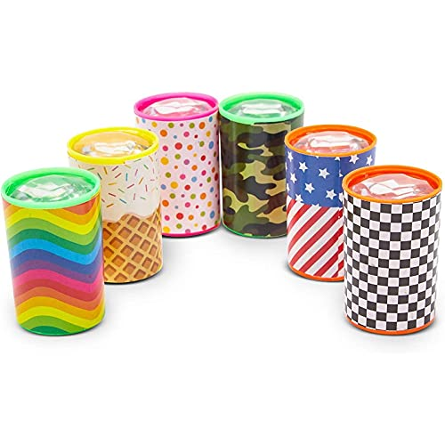 48 Pack Mini Kaleidoscope Prism Toys for Kids Birthday Party Favors, 6 Designs, 1.7 x 1.1 Inches