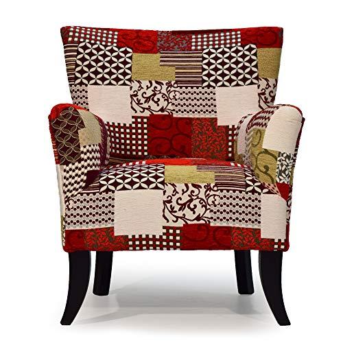 Cocoon Design – Sillón Crapaud Bruselas tejido estampado patchwork – Fabricación artesanal