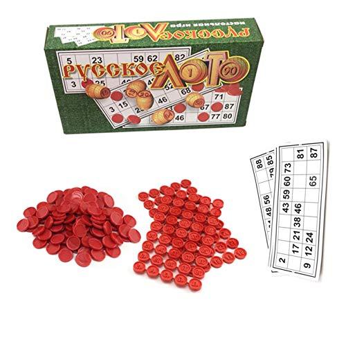 Exuberia Juego De Mesa Bingo, Cartones De Bingo, Juego De Mesa Familiar Ruso para Niños Y Adultos