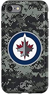 Skinit Pro Phone Case Compatible with iPhone SE - Officially Licensed NHL Winnipeg Jets Camo Design