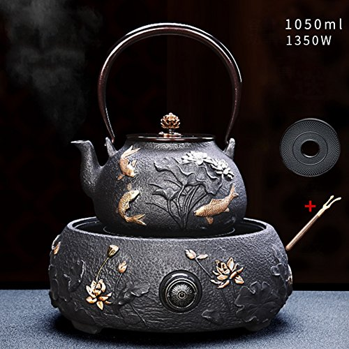 Best Review Of Aich Japanese Iron Tea Set,Bas Relief Boil Tea Ware,Kung Fu Tea Set-teapot & Electric...