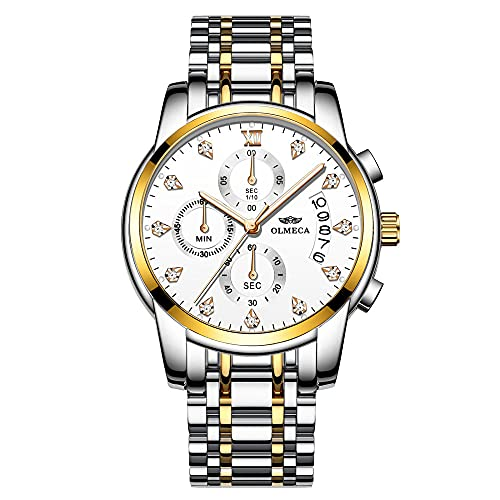 Relojes de Pulsera de Negocios de Moda de Cuarzo a Prueba de Agua de Acero Inoxidable para Hombre para Hombres-B