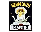 Vermut Martini Retro Shabby Chic - Imán para nevera (acrílico)