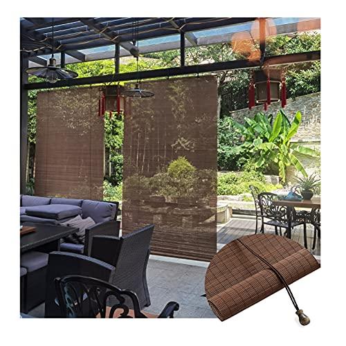 JIANFEI Cortina enrollable de bambú, 60% de aislamiento de sombreado para pabellón, balcón, pasillo y pasillo, protección interior, personalizable (tamaño: 80 x 200 cm)