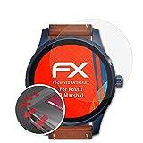 atFoliX Schutzfolie kompatibel mit Fossil Q Marshal Folie, entspiegelnde & Flexible FX Bildschirmschutzfolie (3X)
