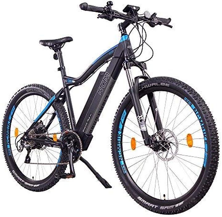 Bicicletta elettrica da trekking, 250w, batteria 48v 16ah 768wh 27,5