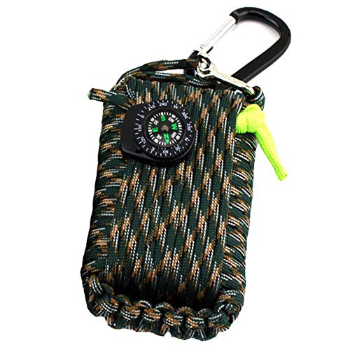 Kit di sopravvivenza di emergenza, 29 in 1 Paracord Grenade Mini kit di pronto soccorso Whistle Fire Starter Set (Camouflage de montagne)