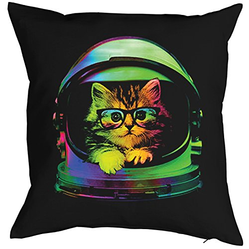 Space Kitten Cat Chats Gatti Gatos Coussin, Pop Art Style