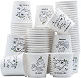 [200 Pack] 4 Oz Espresso Paper Cups - Hot/Cold Drinking Cup Biodegradable&Compostable - Dual Side Design and Eco-friendly
