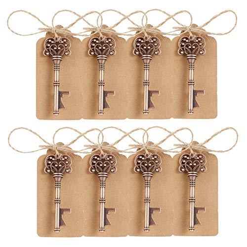 Enjoygoeu Flaschenöffner Hochzeit Gastgeschenke 50Stk. Vintage Schlüsselanhänger für Baby-Dusche Partygäste Bankett Hochzeitsdekoration