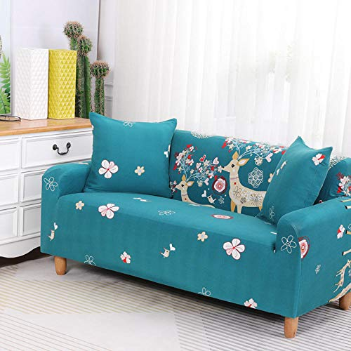 HXTSWGS Jacquard Sofahusse,Stretch Sofa Cover, Stretch Fabric, Furniture Protection Cover-Blue 9_90-140cm