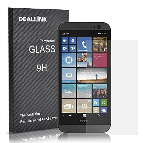 Affare-link Vetro Pellicola protettiva per Samsung HTC ONE M8, 9 H Durezza di temperato vetro Pellicola display, Bianco