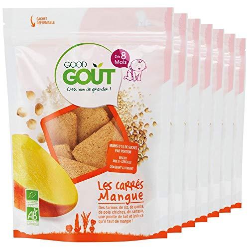 Good Goût - BIO - Les Carrés Mangue 50 g - Pack de 7