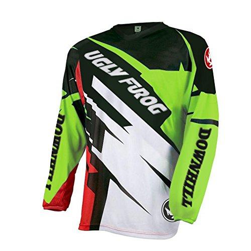 Future Sport Uglyfrog Herren Langarm Radtrikot Fahrradtrikot Radshirt Fahrradshirts Fahrradbekleidung für Männer mit Elastische Atmungsaktive Schnell Trocknen Stoff