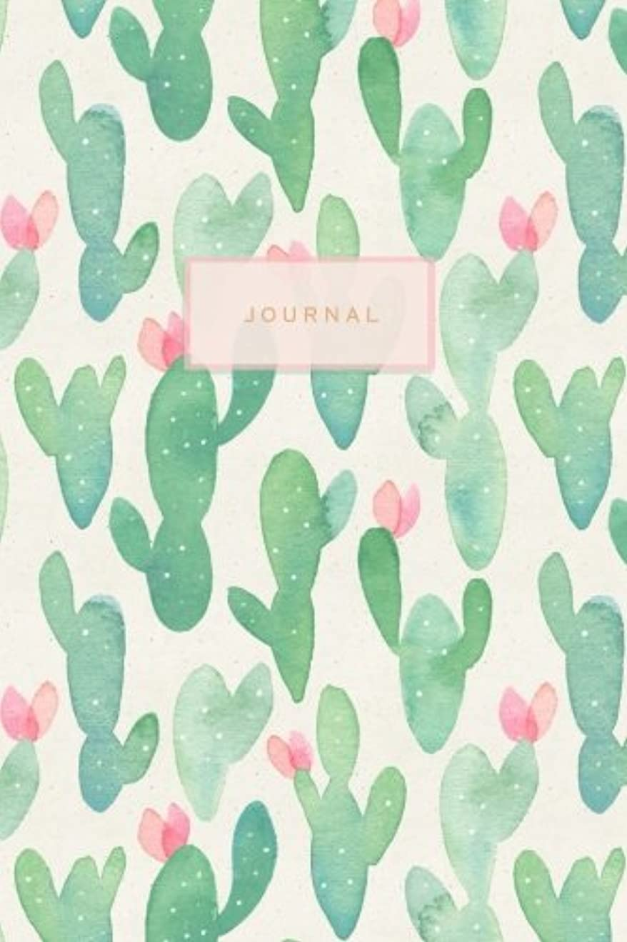 灌漑通信網グッゲンハイム美術館Journal: Pretty Cactus Notebook | 120-Page Lined Journal (Cactus Journals)