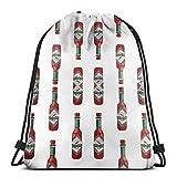 Bag hat Tabasco Sauce 3D Print Drawstring Backpack Rucksack Shoulder Gym for Adult 16.9'X14'