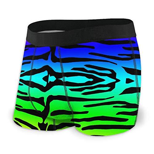 Boxershorts für Herren, Regenbogenfarben, buntes Tigermuster, atmungsaktiv, ultraweich, für alle Jahreszeiten. Gr. XXL, Schwarz