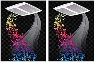 Broan SPK110 110-CFM 1.0-Sones Sensonic Speaker Fan with Wireless Technology, White (Pack of 2)